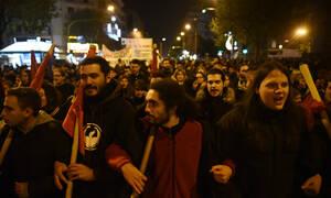 Επέτειος Γρηγορόπουλου: Ξεκίνησε η πορεία στη Θεσσαλονίκη - Ποιοι δρόμοι είναι κλειστοί (pics)