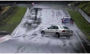 Το βρεγμένο Nürburgring δεν είναι για ερασιτέχνες! (Video)