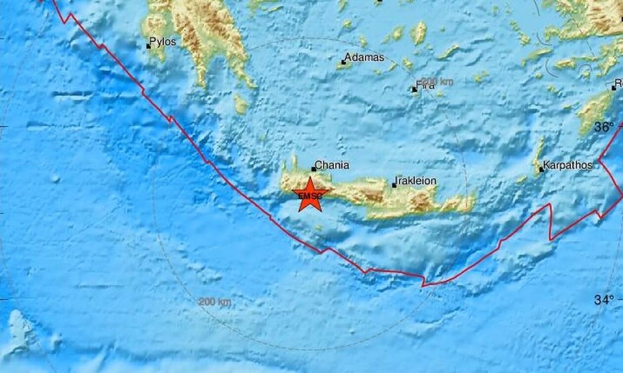 Σεισμός στην Κρήτη: Νέες σεισμικές δονήσεις νότια των Χανίων (pics)