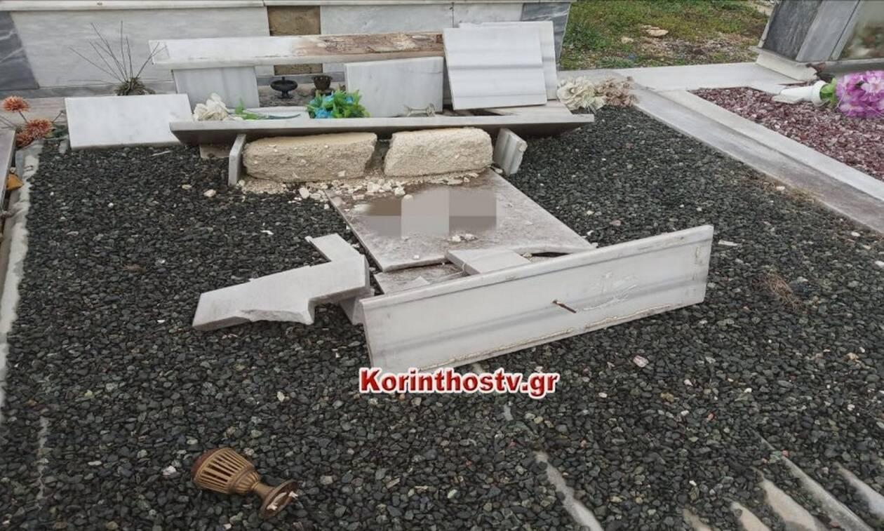 Νεμέα: Φωτογραφίες - σοκ από σπασμένα μνήματα στο κοιμητήριο