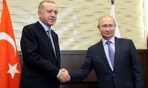 Τηλεφωνική επικοινωνία Πούτιν – Ερντογάν για τη Λιβύη