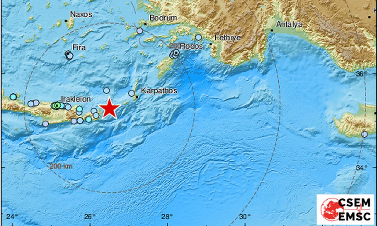 Σεισμός ΤΩΡΑ: Ισχυρή δόνηση ταρακούνησε την Κρήτη