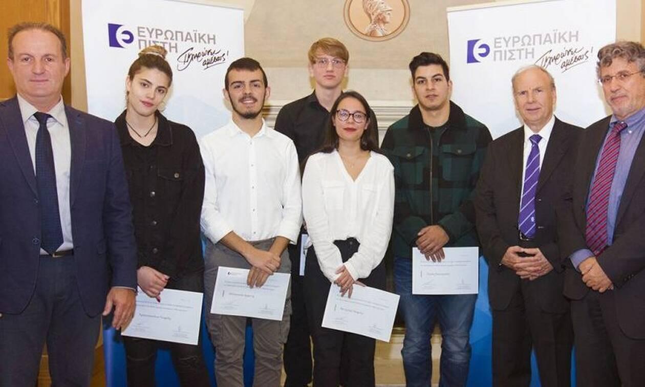 Ευρωπαϊκή Πίστη – Βράβευση των αριστούχων νεοεισαχθέντων φοιτητών του ΕΚΠΑ
