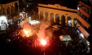 Αγριεμένοι οι Σέρβοι στο Μοναστηράκι, καπνογόνο σε συρμό του ηλεκτρικού!