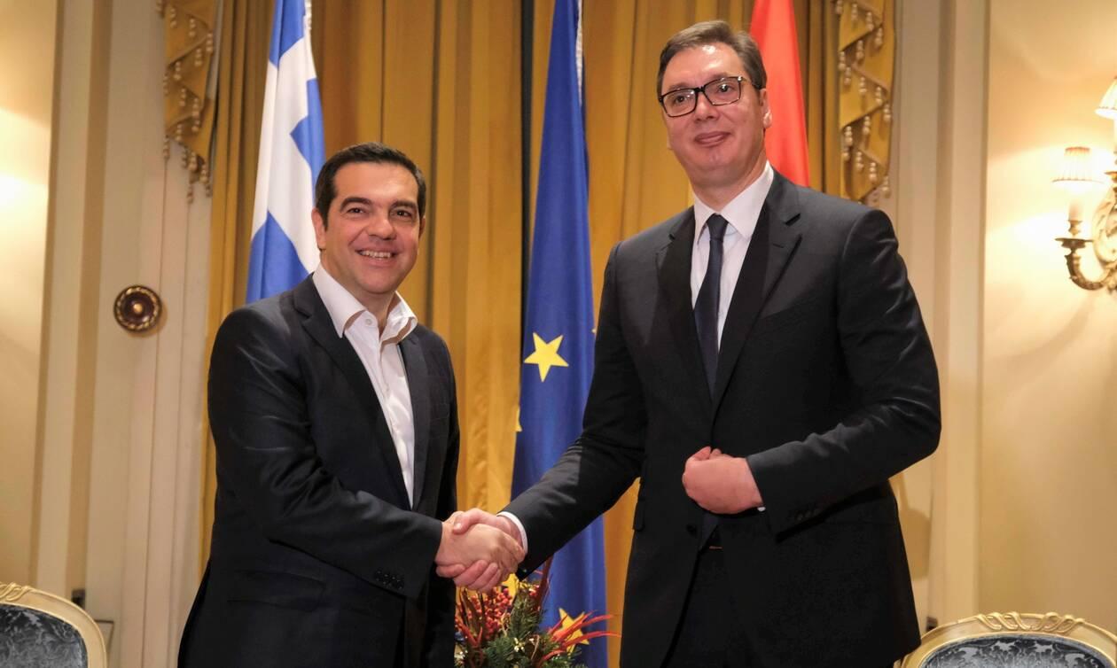 Συνάντηση Αλέξη Τσίπρα με τον Πρόεδρο της Σερβίας Αλεξάνταρ Βούτσιτς