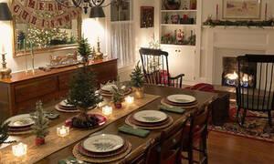 Οι 20 χριστουγεννιάτικες ιδέες για να διακοσμήσετε την τραπεζαρία σας (pics)