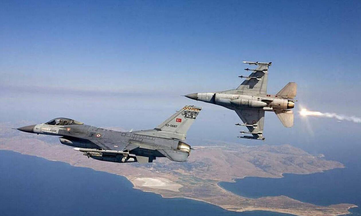 Νέα πρόκληση: Τουρκικά μαχητικά πάνω από τους Καλόγερους