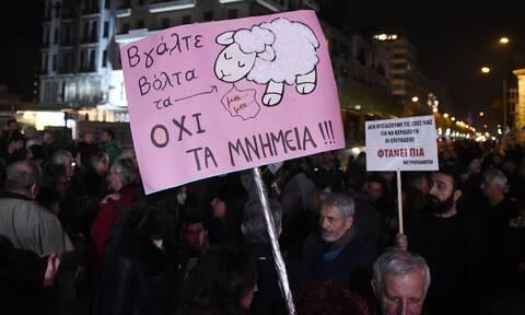 Θεσσαλονίκη: Κινητοποίηση κατά της απόσπασης των αρχαιοτήτων από τον σταθμό Βενιζέλου του μετρό