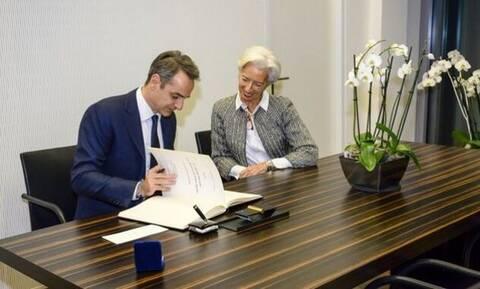 Лагард и Мицотакис обсудили проблемы банковской системы Греции