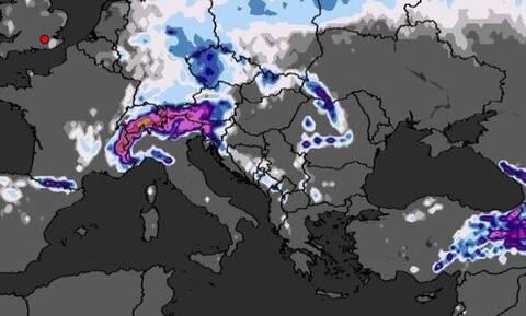 Καιρός: Ο «τραγικός» χάρτης χιονοκάλυψης της Ελλάδας μέχρι τις 29 Δεκέμβρη και η τάση έως 3 Γενάρη!