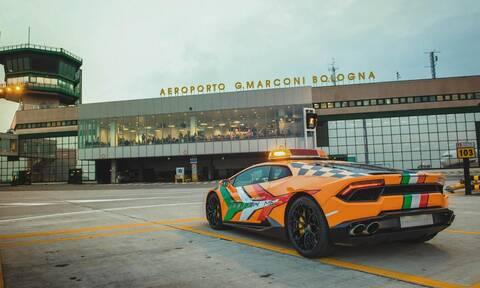 H Lamborghini Huracan θα έχει καθήκοντα αυτοκινήτου Follow Me στο αεροδρόμιο της Bologna