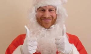 Ο πρίγκιπας Harry ντύθηκε Άγιος Βασίλης και το βίντεό του έγινε δίκαια viral  (video)