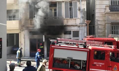 Ηράκλειο: Φωτιά σε συνεργείο
