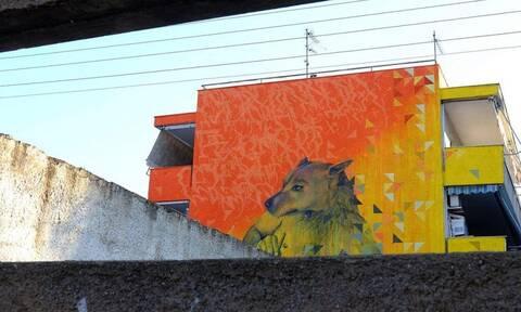 Βόλος: Υπέροχο γκράφιτι αφιερωμένο στα αδέσποτα ζώα (photos)