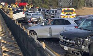 Ασύλληπτη καραμπόλα 69 οχημάτων με 51 τραυματίες (pics+vid)