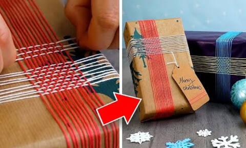 Ιδέες για την εντυπωσιακή & πρωτότυπη συσκευασία των χριστουγεννιάτικων δώρων (vid)
