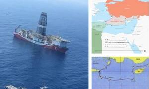 Προκαλεί ξανά η Τουρκία – Νέος χάρτης «κυριαρχίας» στη Μεσόγειο