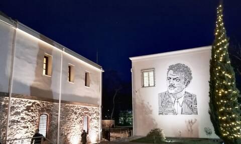 Μοναδικό ψηφιδωτό στα Τρίκαλα με το πρόσωπο του Τσιτσάνη