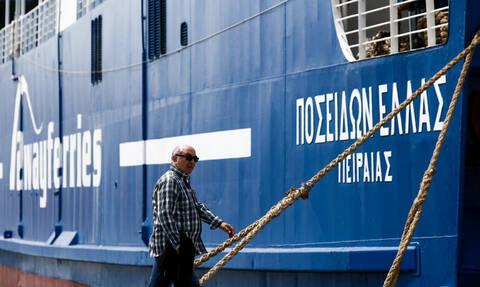 Συγκλονιστικό: Ο Posidon Hellas δένει στην Αίγινα μετά από μάχη με τα κύματα (video)