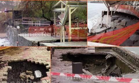 Κακοκαιρία: Καταστροφές στη Λήμνο από τους θυελλώδεις ανέμους (pics)