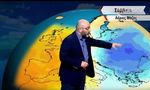 Καιρός: Η έκτακτη ενημέρωση του Σάκη Αρναούτογλου για κατά τόπους ισχυρές χιονοπτώσεις