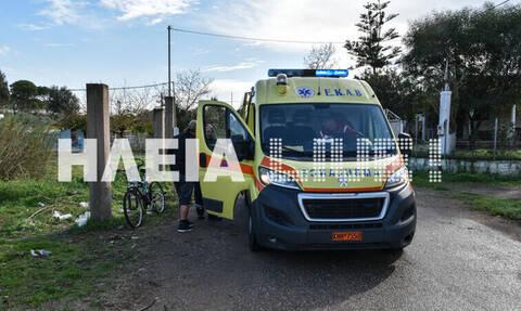 Ηλεία: Άγρια επίθεση σκύλων σε ποδηλάτη (pics)