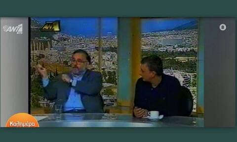 Η σπάνια τηλεοπτική συνάντηση Θάνου και Ανδρέα Μικρούτσικου