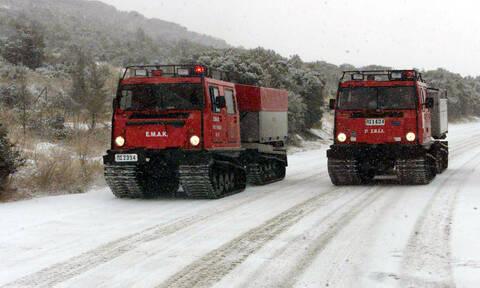 Pentelis-Neas Makris road section shut down because of snow