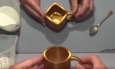 Διχασμένο το ίντερνετ: Αυτή η κούπα είναι τετράγωνη ή στρογγυλή; (vid)