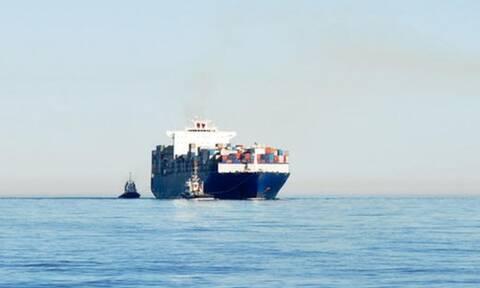 Ρυμουλκείται το φορτηγό πλοίο που έπλεε ακυβέρνητο μεταξύ Ρόδου και Καρπάθου