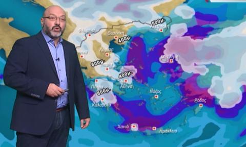 Καιρός: Όλες οι περιοχές και τα υψόμετρα των χιονοπτώσεων! Η ανάλυση του Σάκη Αρναούτογλου (vid)
