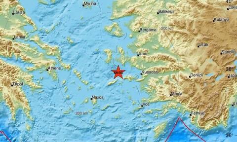 Σεισμός ΤΩΡΑ κοντά σε Σάμο - Ικαρία (pics)