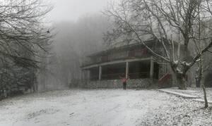 Ηφαιστίωνας: Χιόνισε στον Χορτιάτη - Πού χρειάζονται αλυσίδες (pics)