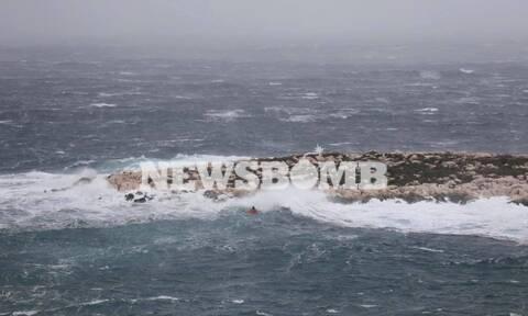 Κακοκαιρία - «Ηφαιστίων»: Αγνοείται κωπηλάτης στην Αρτέμιδα