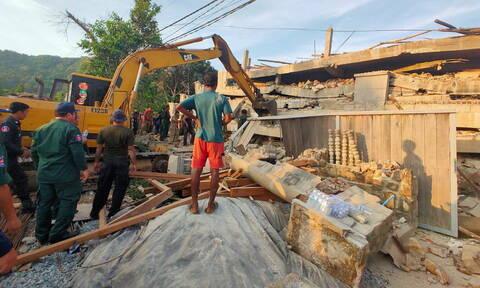 Καμπότζη: 36 νεκροί από κατάρρευση κτηρίου