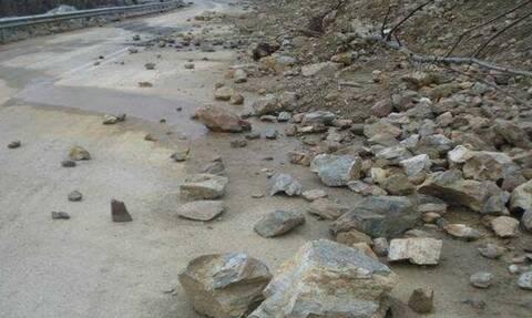 Χανιά: Κλειστός ο επαρχιακός δρόμος Καστέλι-Σφηνάρι-Κάμπος λόγω εκτεταμένης κατολίσθησης