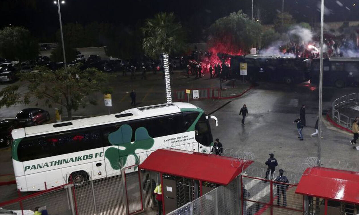 Έκθεση - φωτιά: «Τραυματίας αστυνομικός στο Ολυμπιακός – Παναθηναϊκός» (video+photos)