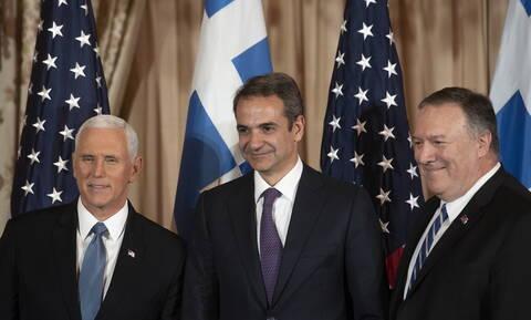 Έπαινοι Πενς - Πομπέο σε Μητσοτάκη και Ελλάδα: «Οι δεσμοί μας δεν υπήρξαν ποτέ ισχυρότεροι»