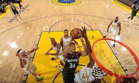 NBA: Πάτησε και τους Ουόριορς ο Γιάννης με νέα 30άρα! (photos+video)