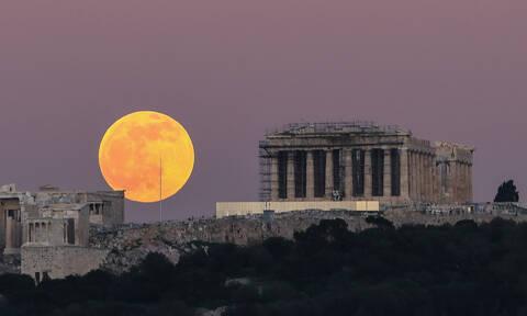 «Πανσέληνος του Λύκου»: Το εντυπωσιακό φαινόμενο στον ουρανό της Ελλάδας (φωτογραφίες)