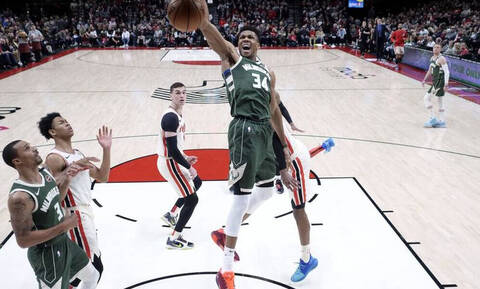 NBA: Επιστροφή στα... όργια ο Γιάννης - Νίκη οι Μπακς (video+photos)