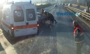 Θεσσαλονίκη : Καραμπόλα πέντε οχημάτων στην περιφερειακή οδό