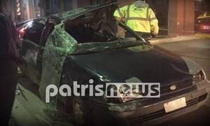 Μυρσίνη Λεχαινών: Η ξέφρενη πορεία αυτοκινήτου έστειλε δύο άτομα στο νοσοκομείο (pics)