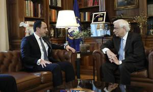 Συνάντηση Παυλόπουλου - Χριστοδουλίδη: Κυπριακό και Τουρκία στο «τραπέζι» των συζητήσεων