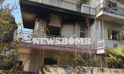 Μελίσσια: Οι πρώτες εικόνες από τη φωτιά σε διαμέρισμα - Ένας τραυματίας, απεγκλωβίστηκαν 4 άτομα