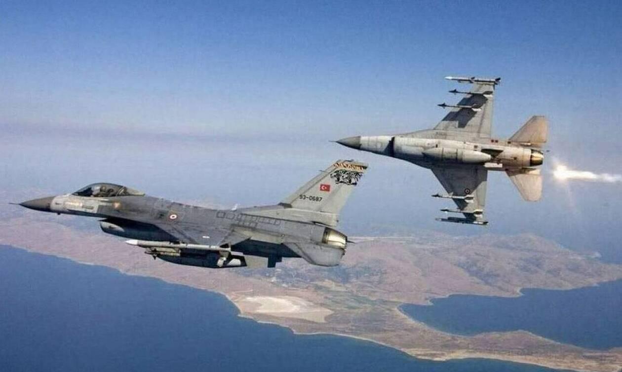 Συναγερμός στο Αιγαίο: Τουρκικά F-16 πάνω από Λέρο και Λειψούς