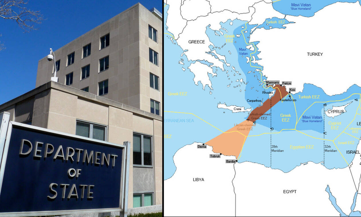 «Χαστούκι» ΗΠΑ σε Τουρκία: Τα νησιά έχουν τα ίδια δικαιώματα ως προς την ΑΟΖ και την υφαλοκρηπίδα