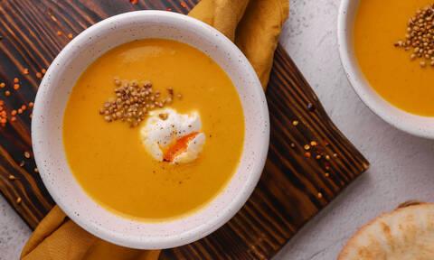 Συνταγή για νόστιμη σούπα με καρότο και φακές