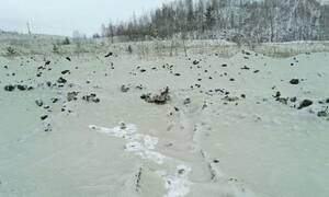 Απόκοσμο θέαμα: Το «έστρωσε» με πράσινο χιόνι!