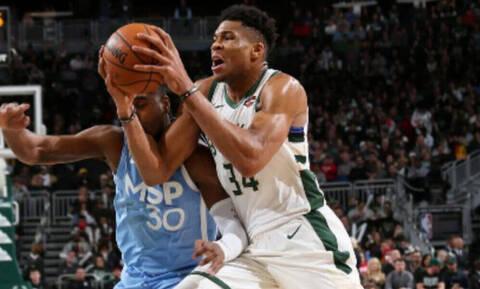 NBA: Εύκολα οι Μπακς με ασταμάτητο Γιάννη! (pics+vid)